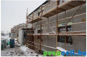 Prokoncept ház 35 cm-es Isocell födémszigetelése pezocell.hu