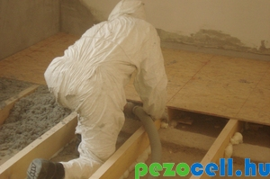 Pezocell hőszigetelés készítése borított gerendás födémben